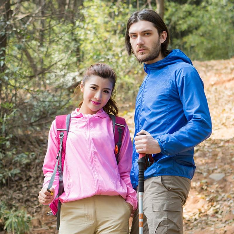 Női férfiak Napvédő Ultrakönnyű vízálló kabát Kerékpár - Sportruházat és sportolási kiegészítők - Fénykép 4