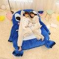 200*150cm Giant Lilo And Stitch Plush Totoro Double Foam Beanbag Cartoon Mattress Cushion Plush Pad Tatami Bed Sleeping Bag