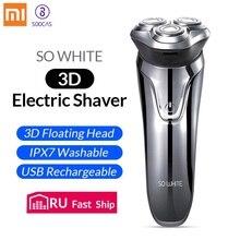 SOOCAS SO WHITE Afeitadora eléctrica ES3 recargable, máquina de afeitar eléctrica inteligente 3D, lavable, para Barba
