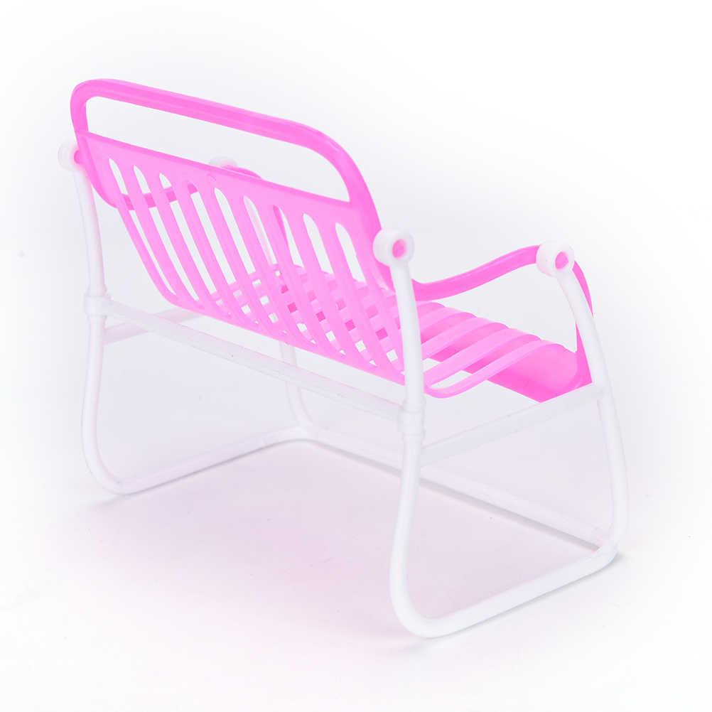 1 PCS PinkHouse bonito Meninas Presentes Sofá Poltrona Lounge Para Boneca Acessórios Para Móveis