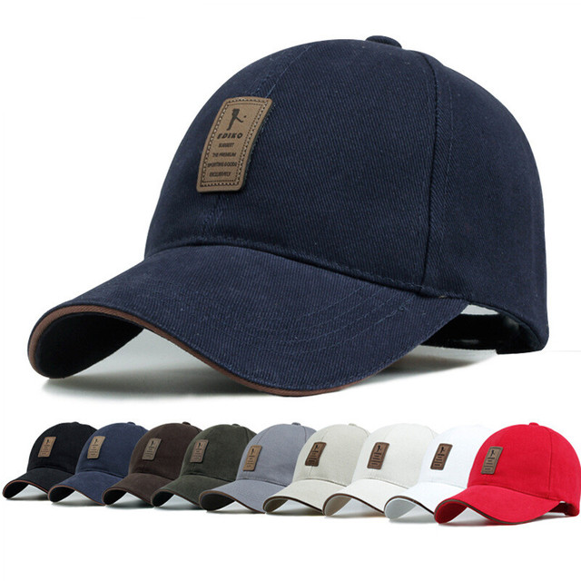 405cb9575 US $5.1 15% OFF|New 1Piece Baseball Cap Men's Adjustable Cap Casual leisure  hats Solid Color Fashion Snapback Summer Fall hat 9 Colors YSM03-in ...