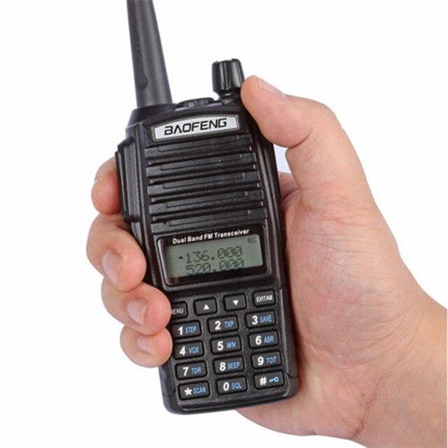 BAOFENG UV-82 портативная рация VHF/UHF Dual Band long range 2-PTT 5 Вт с подкладкой радио UV82 с подкладкой cb радио + гарнитура