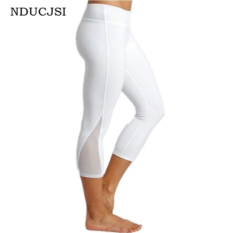 Women   Legging   Patchwork Mesh Leggins Black Capri Plus Size Jegging Sexy   Leggings   Fitness Sporting Pants White Mid-Calf Trousers
