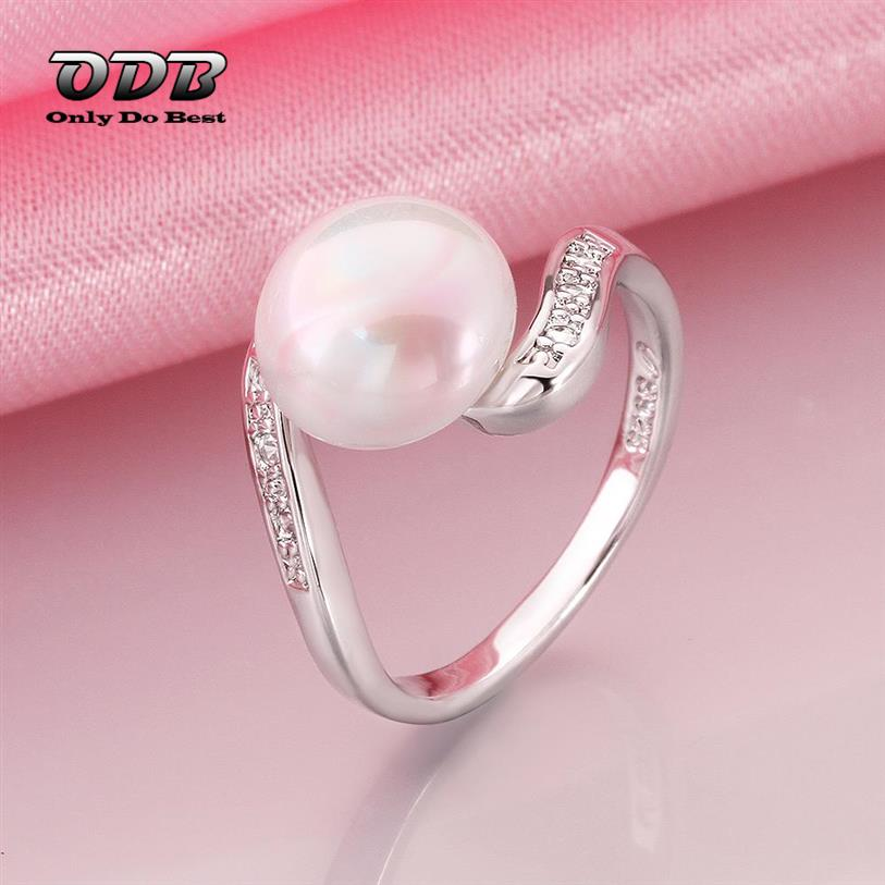 pearl ring silver plated wedding engagement cheap