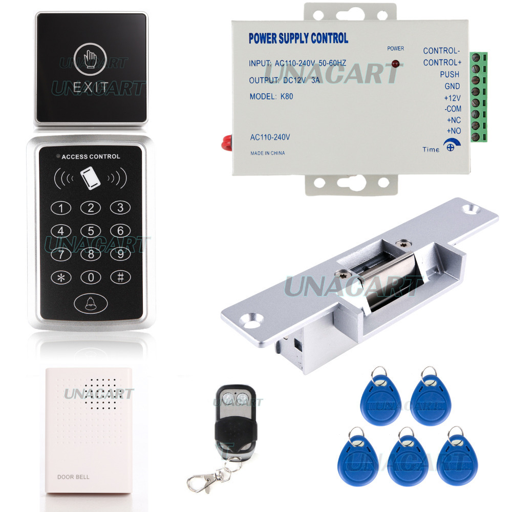125khz Rfid Id Keypad Reader Kit Keyfobs Access Control