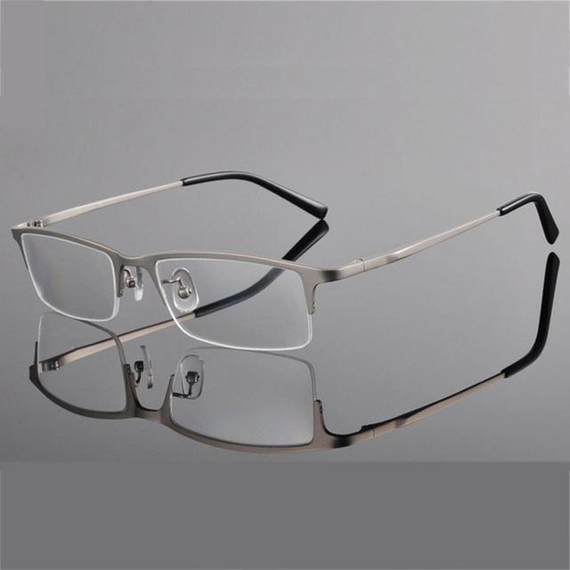 Ultar peso ligero marcos ópticos titanium de gafas gafas de marco para los hombres medio rim