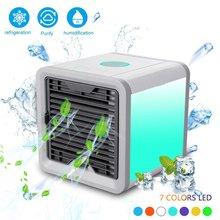 USB мини портативный кондиционер увлажнитель воздуха очиститель 7 цветов светильник Настольный вентилятор охлаждения воздуха вентилятор для офиса дома