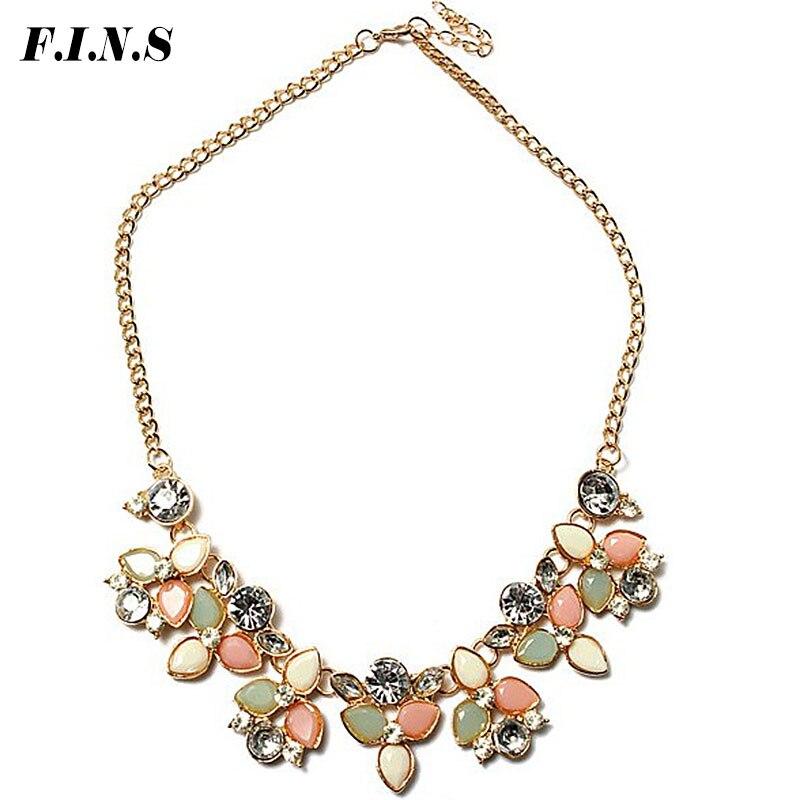 F.I.N.S Fashion Gold Chain Choker Statement Necklace Women 6 Colors Collier Femme Vintage Maxi Necklace Bib Necklaces Pendants