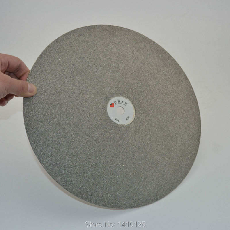 12 inch 300mm Grit 60 Diamond Grinding Disc Coated Flat Lap Disk Lapidary Wheel Coarse Tools for Stone Glass Ceramics