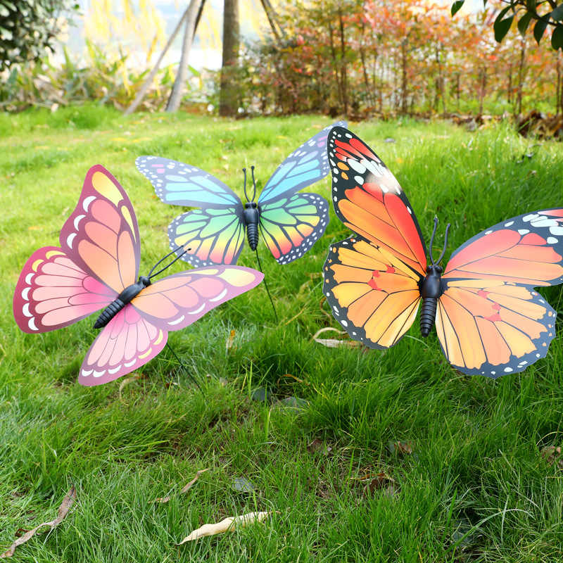 Lawn Decor Fake Butterfly Random Color 11cm Artificial Butterfly