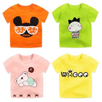 Summer Fashion Girls & Boys T Shirt Short Sleeve New Soft Children's Shirt Cotton Tops Cartoon Clothes White Kid T-Shirts Boys T Shirts