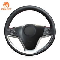 MEWANT Black Artificial Leather Car Steering Wheel Cover for Opel Antara 2006 2017 Vauxhall Antara 2006 2017 Saturn Vue 2008