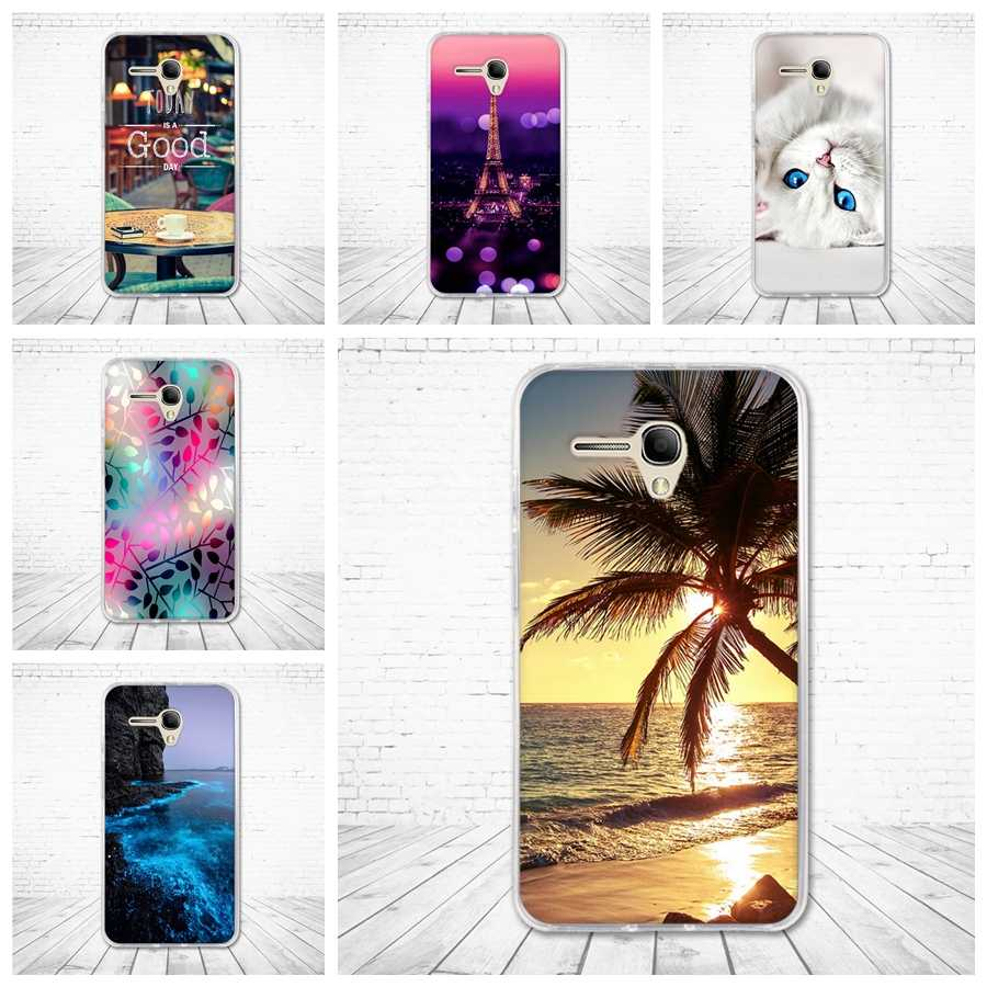 "TPU Case for Alcatel Pop 3 OT-5025D Case Back Phone Cover for alcatel OneTouch pop3 5.5"" 5025D Cover Soft Silicone Coque Cartoon"