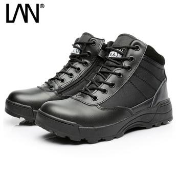a8622ad17 Дропшиппинг армейские ботинки мужские низкие дизайнерские тактические ботинки  Delta SWAT обувь для мужчин черные военные ботинки на молнии