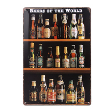 Beers of the World Retro Vintage Bar Signs Tin Sign Vintage Wall Decor St. Patrick Day