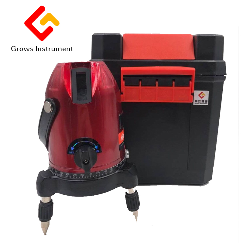Laser Level Meter Laser 2 /3 /5 Line 635NM Infrared Cross Line Laser Level Tilt Slash And Detector Indoor Outdoor Mode Available kapro clamp type high precision infrared light level laser level line marking the investment line