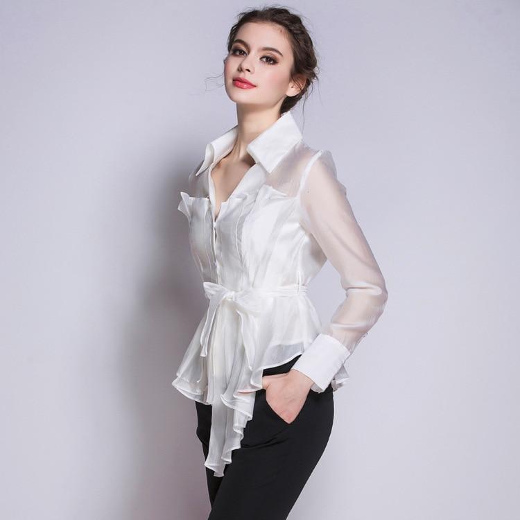 Women's new V collar pleated blouse a creative fashion trendsetter long sleeved jacket цены онлайн