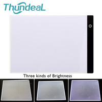 ThundeaL Ultra Thin Digital Tablet A4 Practical Adjustable LED Light Pad Art Stencil Drawing Board Copy