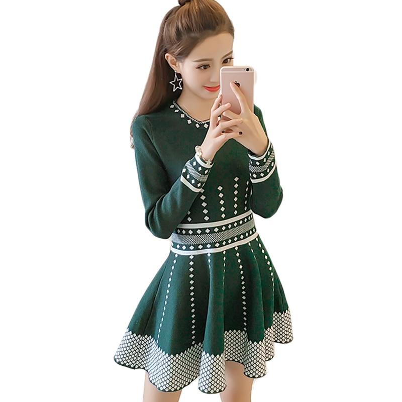 Nouveau automne hiver femmes robe nouvelle mode tricoté pull pull robe élégante mince Sexy Mini mignon fille princesse robe AA288