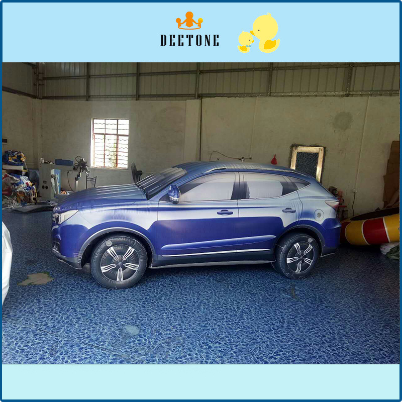 Customized Giant Inflatable Car Model With Advertisement Logo Printing