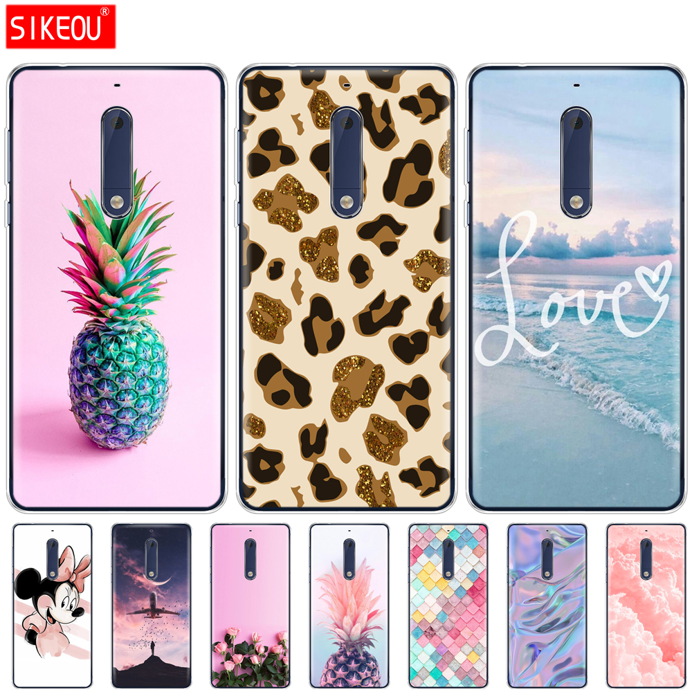 Soft Phone Shell Case For <font><b>Nokia</b></font> 1 <font><b>2</b></font> <font><b>2</b></font>.1 3 3.1 5 5.1 Plus 2018 Silicon Soft TPU <font><b>Back</b></font> <font><b>Cover</b></font> For <font><b>Nokia</b></font> 5 Shockproof Coque Bumper image