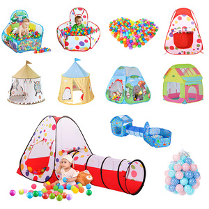 Image 1 - Kids Play Tent Baby Ocean Balls Toys Pool Tipi Tent Toys for Children Outdoor House Play Tent Ocean Ball Toys Christmas Decors