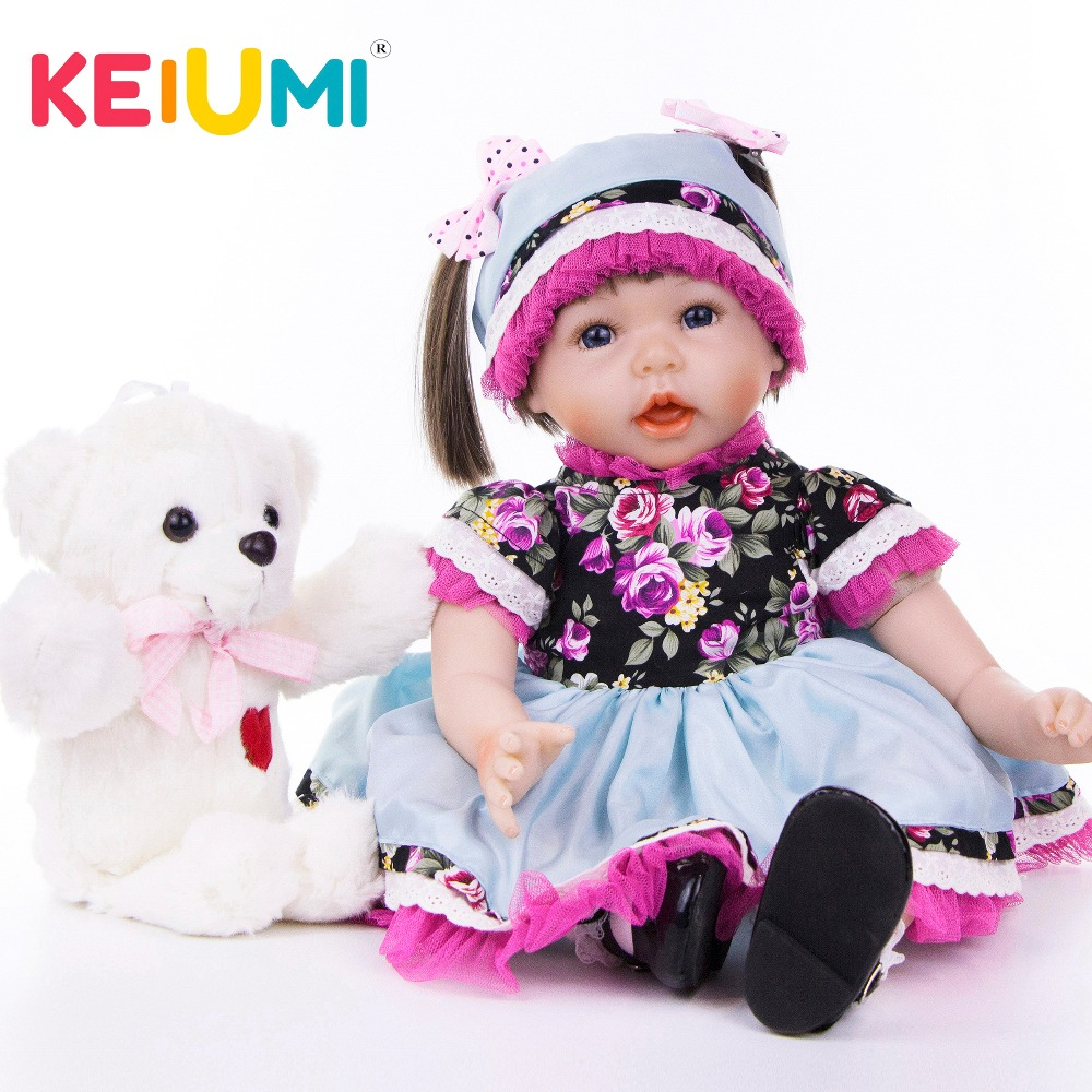 KEIUMI Baby Reborn Dolls 22 Soft Silicone Reborn Baby Realistic Doll Girl 55 cm DIY Boneca Toys For Children Birthday GiftsKEIUMI Baby Reborn Dolls 22 Soft Silicone Reborn Baby Realistic Doll Girl 55 cm DIY Boneca Toys For Children Birthday Gifts