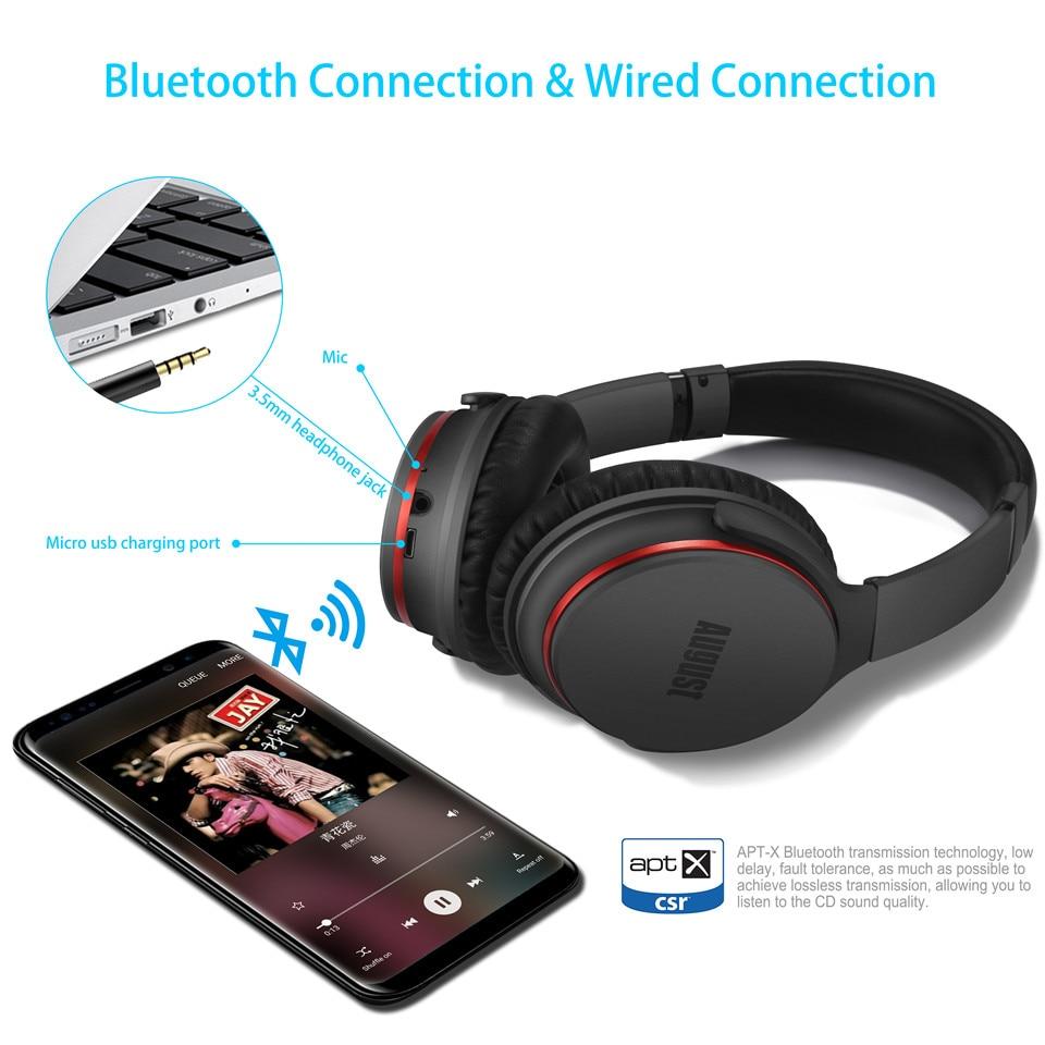 August EP735 Bluetooth наушники с AptX и активным шумоподавлением ANC - 4