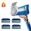 New Grade AAAAA 4pcs/lot Razor Blades for Men Shaving Fusione, Best Quality Cassette Shaving Standard for RU&Euro Shaver