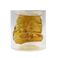 150 ml Fresco Star Wars Stormtrooper Cerveza Vino Whisky Botella de Cristal De Agua de Cristal Tiro Doble Capa Taza de Té de Café de Cristal Drinkware