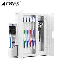 ATWFS зубная щетка, УФ стерилизатор, коробка, Esterilizador, УФ-светильник, держатель для зубной щетки, зубная щетка, дезинфицирующее средство, наборы для ванной комнаты