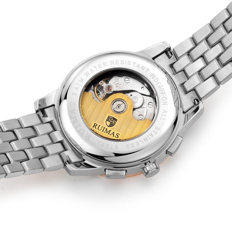 Luksusowa Sukienka RUIMAS Zegarek Różowe Złoto Nowa Moda Sport - Męskie zegarki - Zdjęcie 5