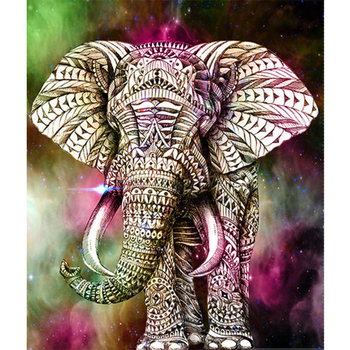 5D DIY Diamante Pintura Animal elefante Broca Redonda Mosaico 3D Bordado  Ponto Cruz presente de Natal Decor 9e973c627c18