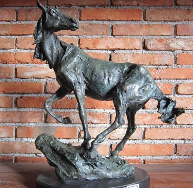 Meubles Décoration De Cuivre Sculpture En Bronze Art Abstraite Zodiaque Cheval Statue De Cuivre décoration de jardin