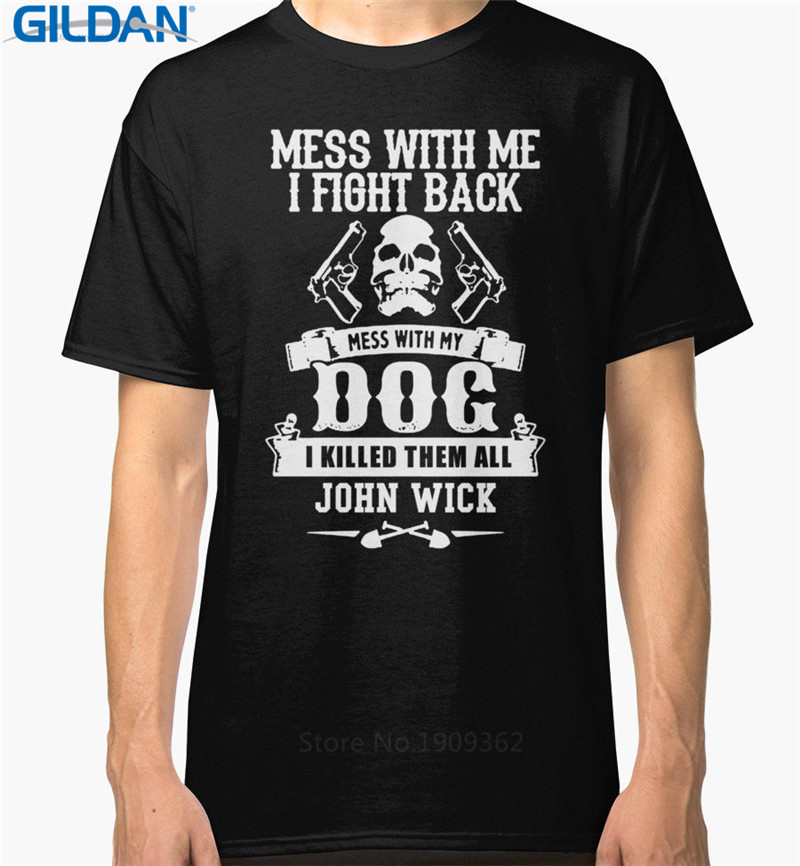 Hilarious Shirts Short Sleeve Broadcloth John Wick Crew Neck Mens T Shirt ...