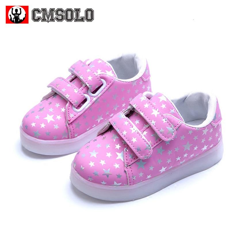 CMSOLO ग्लोइंग स्नीकर्स रबर - बच्चों के जूते