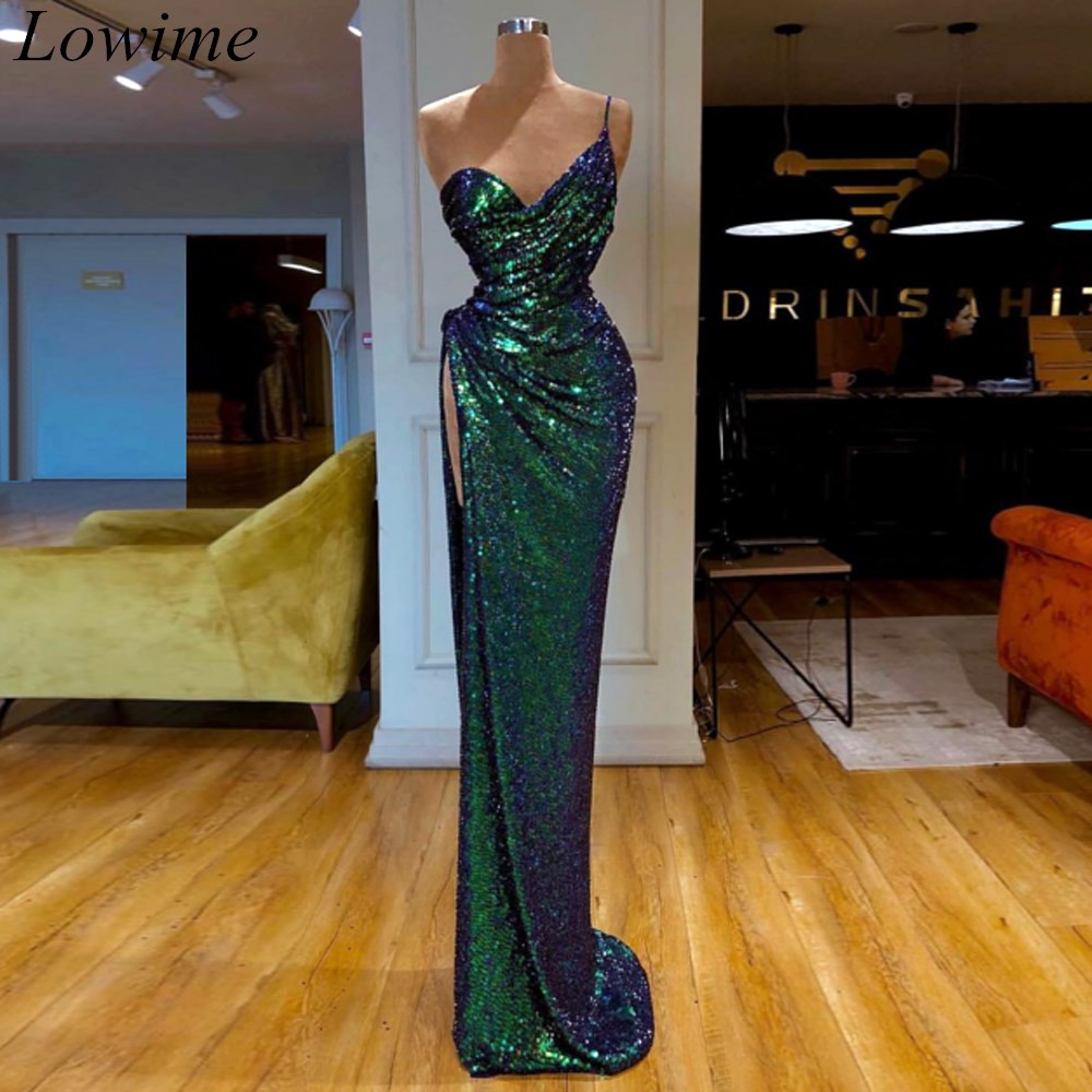 2019 New Arrival Sequin Cocktail Dresses 2019 Long Mermaid Sweetheart High Side Split Sexy Summer Beach Prom Party Dresses