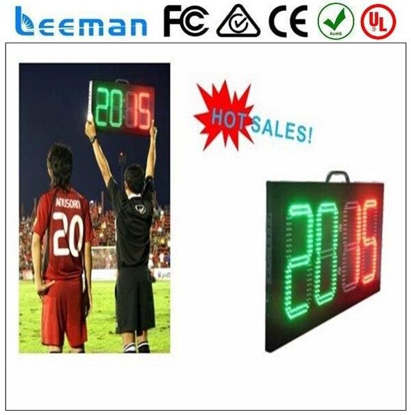 2018 2017 Leeman LED электронной цифровой номер табло, сид Футбол Замещения Доска, СИД футбол замещения доска