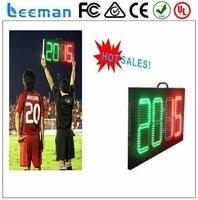 2018 2017 Leeman LED elektroniczny wyświetlacz cyfrowy numer płyty, doprowadziły Pokładzie Substytucji Nożnej, LED piłki nożnej pokładzie substytucji