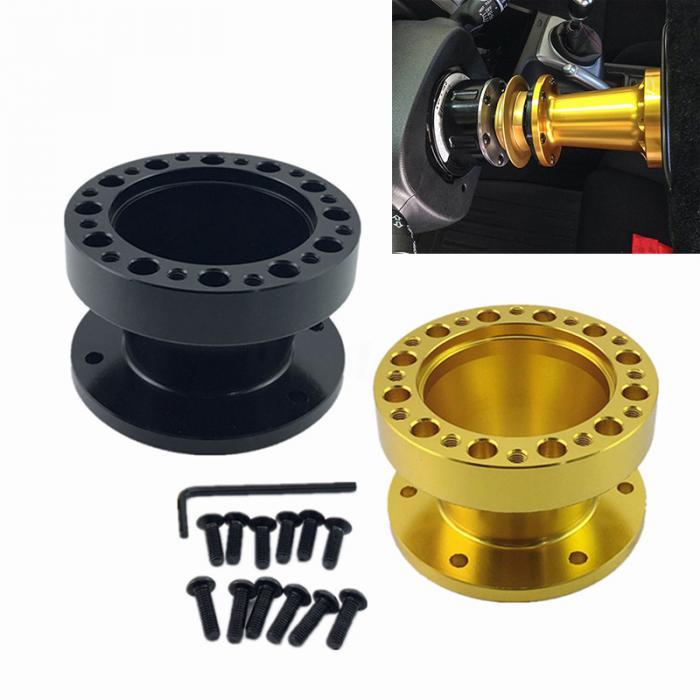 35mm Black Boss Kit Spacer For MOMO OMP Aftermarket Steering Wheel