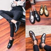 Men Dress Shoes Men Business Flat Shoes Black Brown Breathable Low Top Men Formal Office Shoes Plus Size 39-46