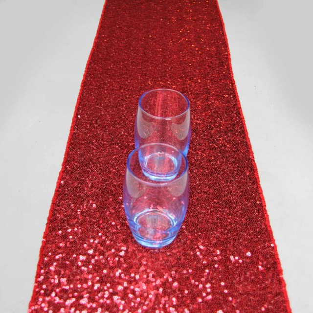 Exceptionnel 14u0027u0027x108u0027u0027/36cmx274cm Luxury Red Sequin Table Runner Wedding Party Table