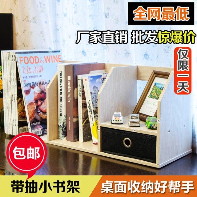 Creatieve kleine boekenkast met lades Kantoor Student Desktop kleine ...