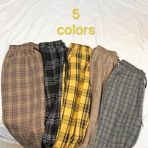Image 4 - LAPPSTER נשים Streetwear משובץ מכנסיים 2020 Harajuku גבוה מותן רצים קוריאני סגנון מכנסי טרנינג גבירותיי סתיו מכנסיים בתוספת גודל