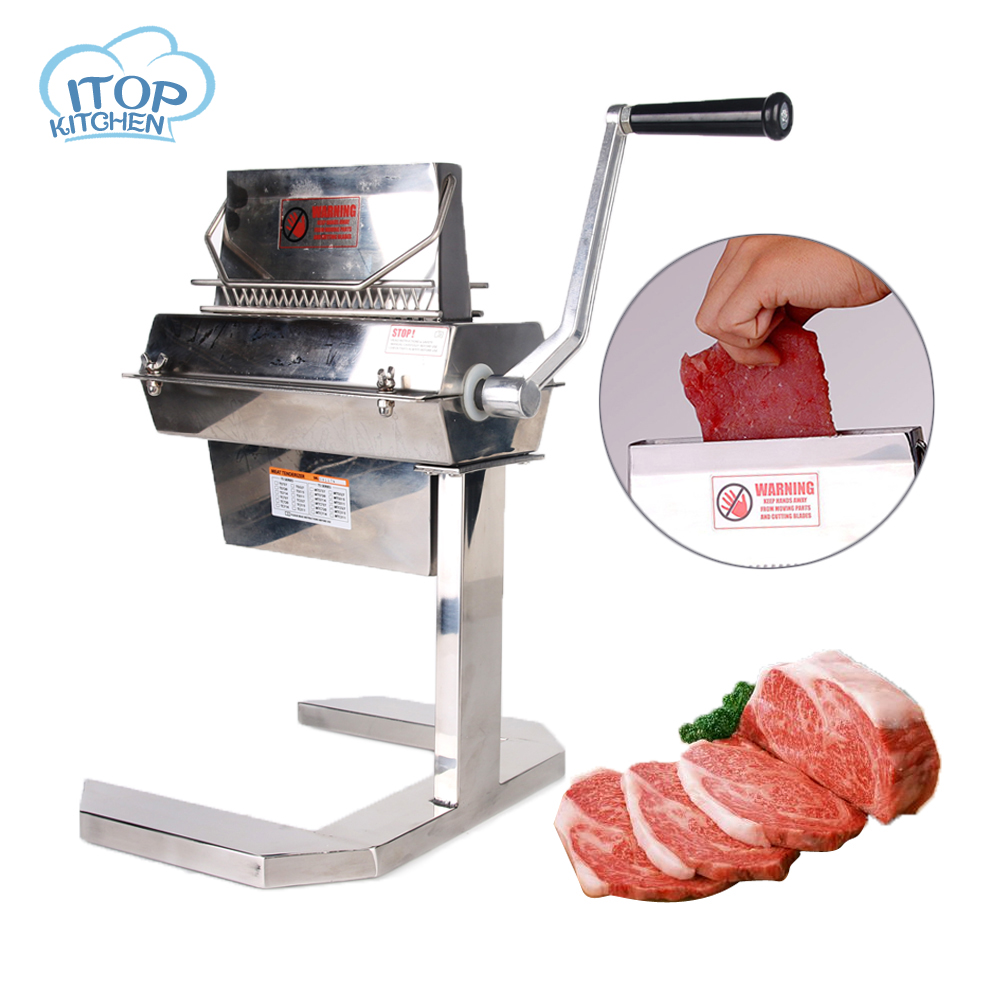 ITOP Manual Meat Tenderizer 5'' StainlessSteel Cuber Heavy Duty Pork Steak knive 27*2 15*2 11*2