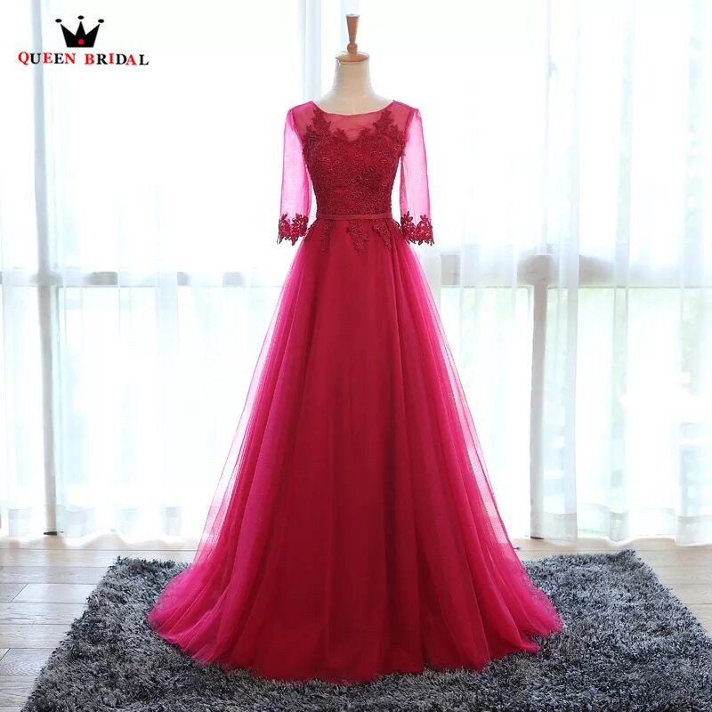 Evening Dresses Long Formal Elegant Grey Wine Red Pink Many Colors Real Photo Party Dress Evening