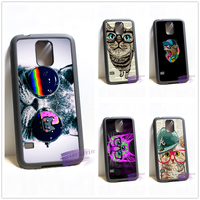 Hipster Cool Cat Fashion Cell Phone Cover Case For Samsung Galaxy S3 S4 S5 S6 S7