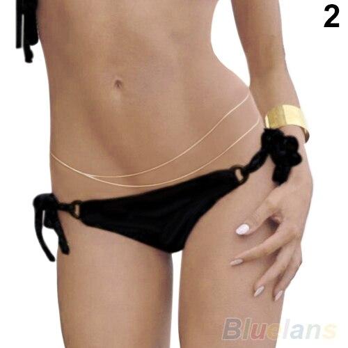 Women's Gold Bikini Belly...