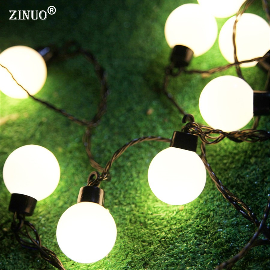 ZINUO 5CM Big Ball LED String Light Christmas Outdoor Lighting 2.5M 5M 10M Fairy String Garland Party Wedding Starry Lights Deco 5m 20led 10m 35led big ball string light indoor outdoor decorative fairy lighting for christmas trees patio party