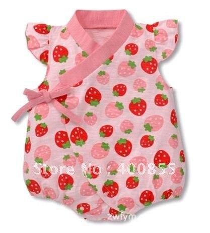 New Summer so cute Cotton baby Kimono romper infant